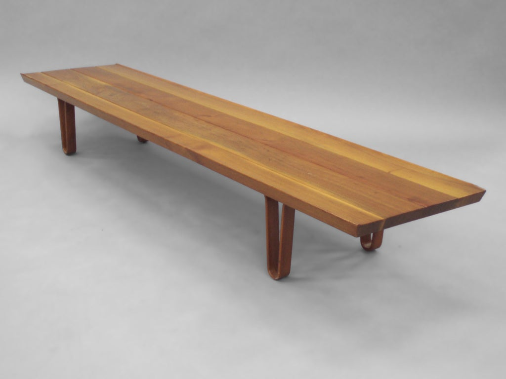 Long John Bench with Drawer by Edward Wormley for Dunbar