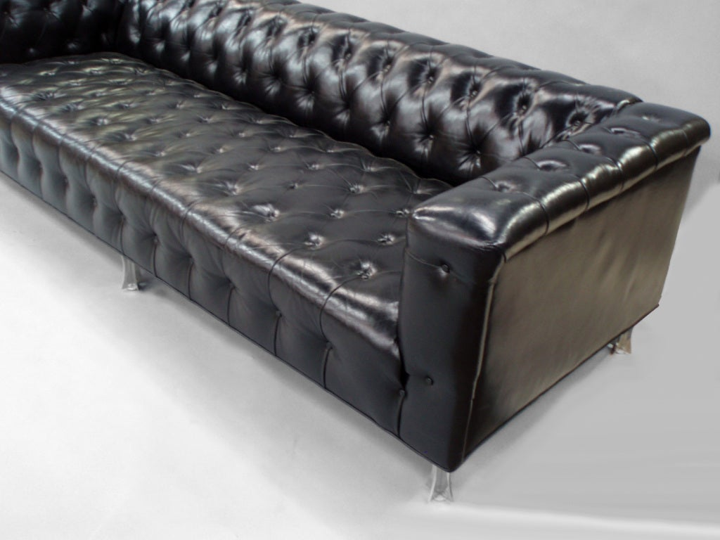 Button Tufted Leather Chesterfield Sofa by John Vesey at 1stdibs
