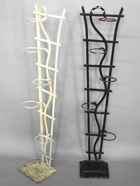 pair tall wrought iron plant stands at 1stdibs. Black Bedroom Furniture Sets. Home Design Ideas