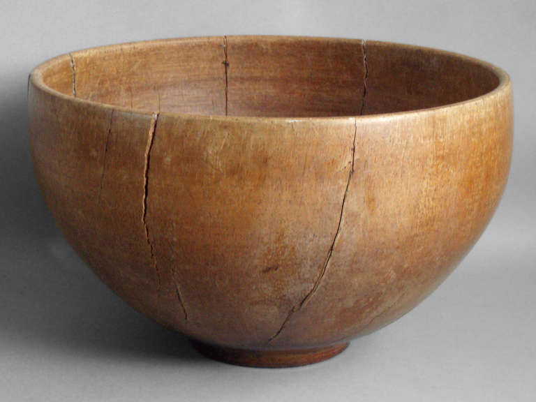 Wooden Dining Bowls ~ Large over scale turned wood bowl at stdibs