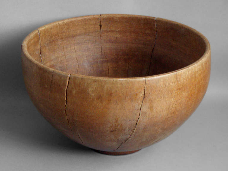 Large Over Scale Turned Wood Bowl At 1stdibs