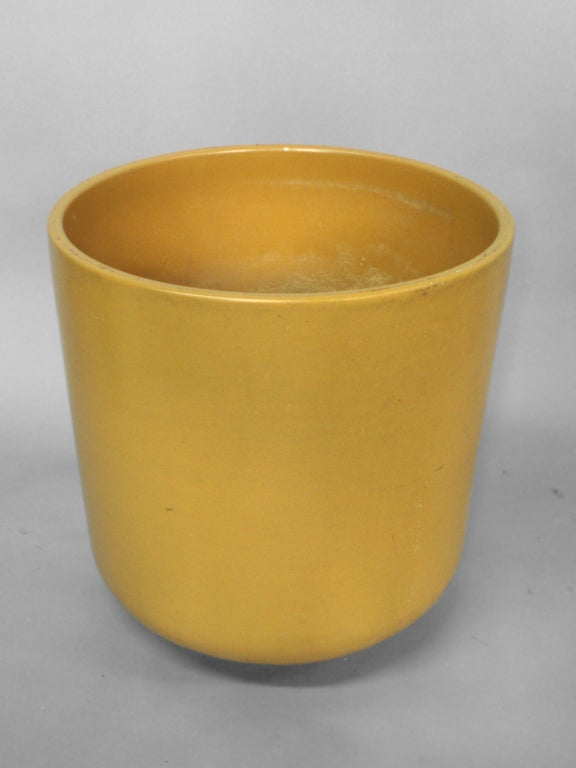 Large Mustard Color Planter Pot Attributed To Malcom