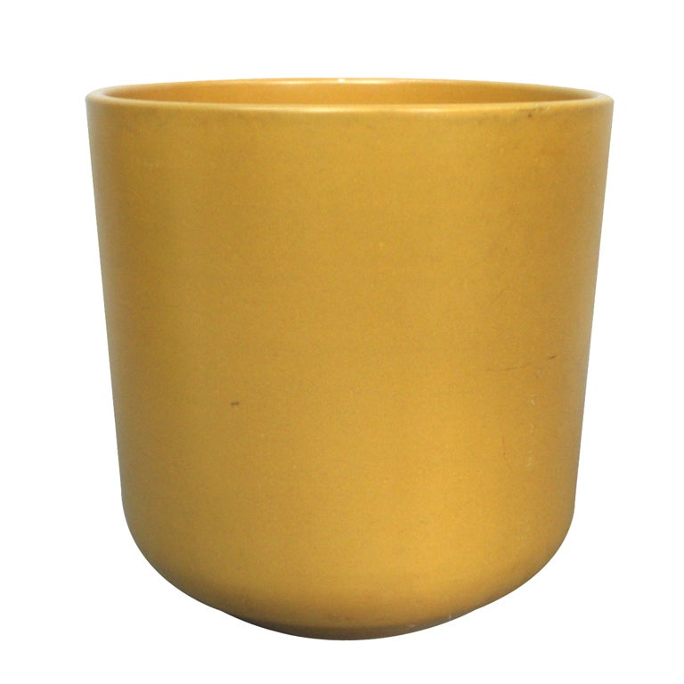 Large Mustard Color Planter Pot Attributed To Malcom Leland At 1stdibs