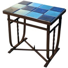 Wrought Iron with Tile Occasional Table