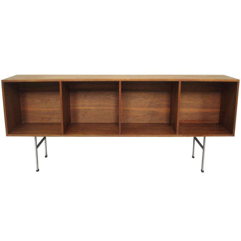 Entry Foyer Credenza : Narrow walnut entryway open credenza by paul mccobb at stdibs