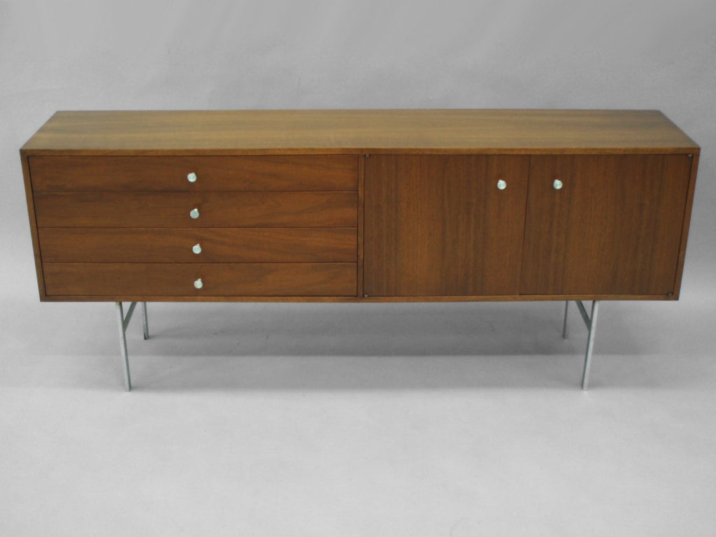 Entry Foyer Credenza : Low narrow walnut entryway credenza by paul mccobb at stdibs