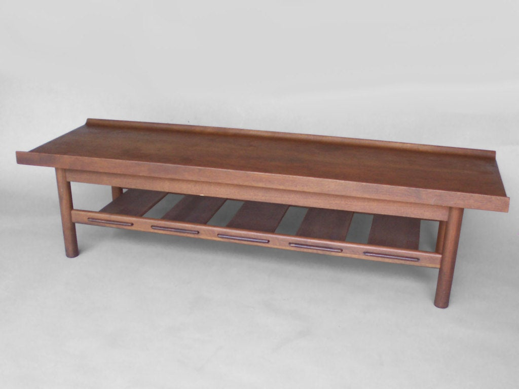 Walnut Bench Coffee Table By Lawrence Peabody At 1stdibs