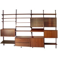 The Best Rosewood Cado Shelf Storage Wall Unit by Poul Cadovius