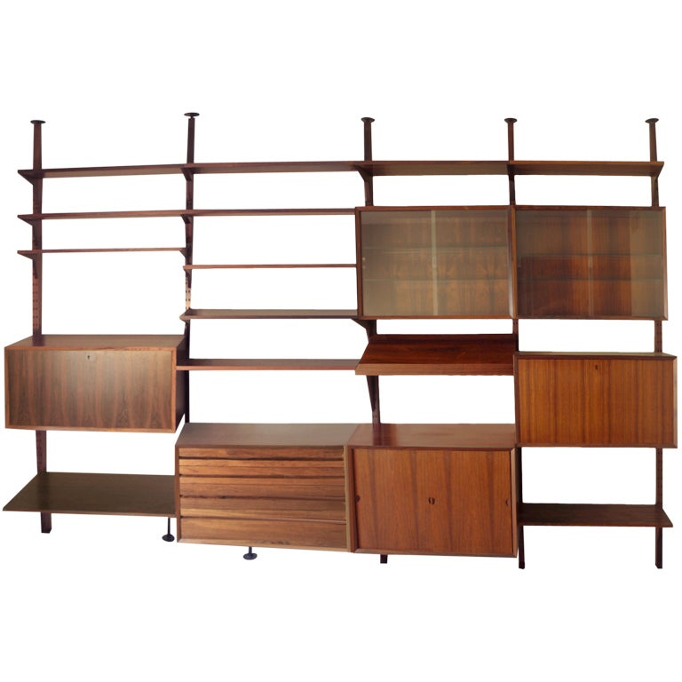 The Best Rosewood Cado Shelf Storage Wall Unit By Poul