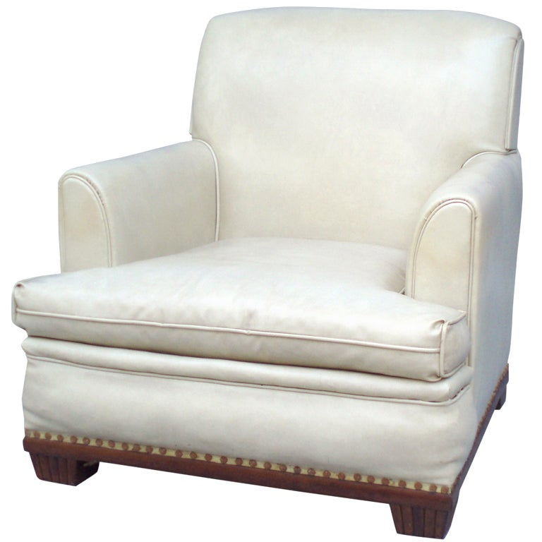 Art deco lounge chair in the style of eugene schoen for for Art deco style lounge