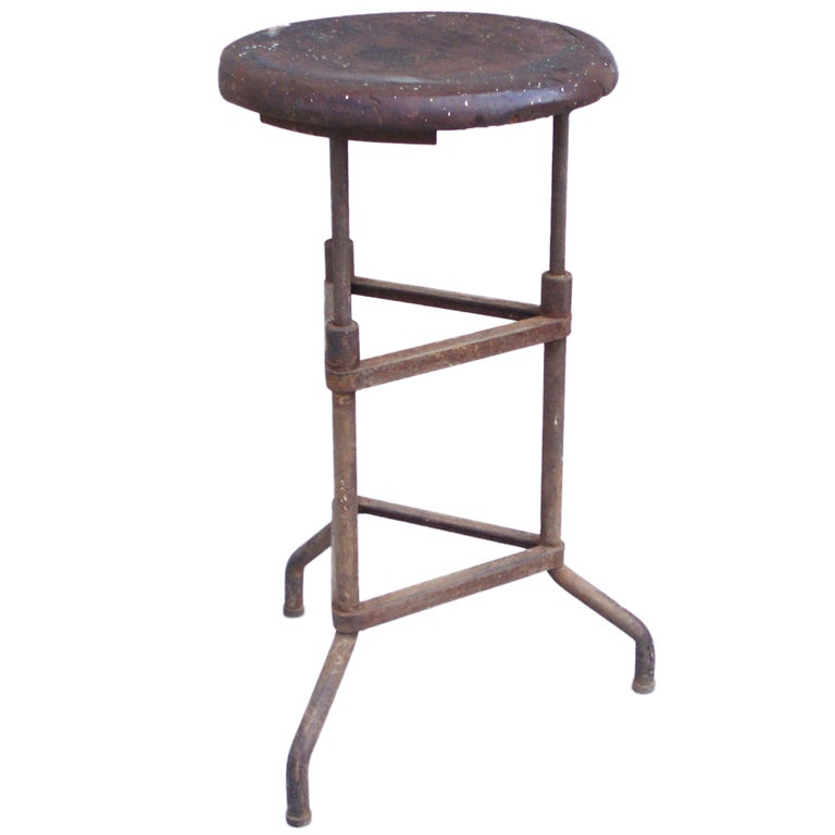 Early Industrial Age Three Legged Stool At 1stdibs