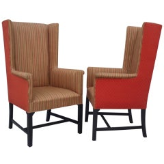Pair of Decorator Fireside Reading Chairs by the Hickory Co .