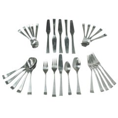 Five Piece Stainless Flatware Service for Six Marked Astro