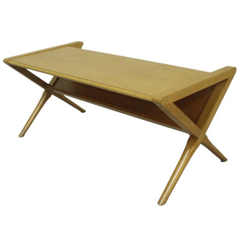Blonde Magazine Display Coffee Table Early Lane Furniture At 1stdibs