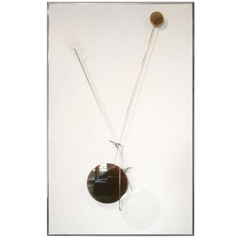 Kinetic Wall Hanging Sculpture Signed Amidei