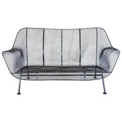 Woodard Wrought Iron with Mesh Settee