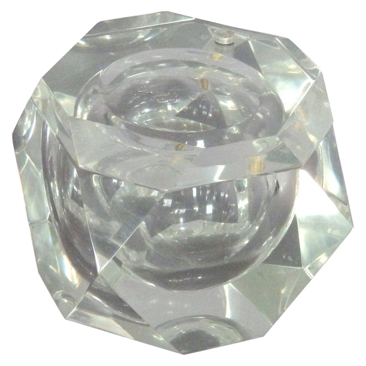 Faceted Swivel-Top Ice Bucket