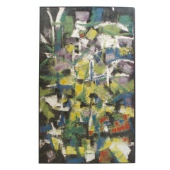 Abstract Oil Painting on Board by Robert Berger