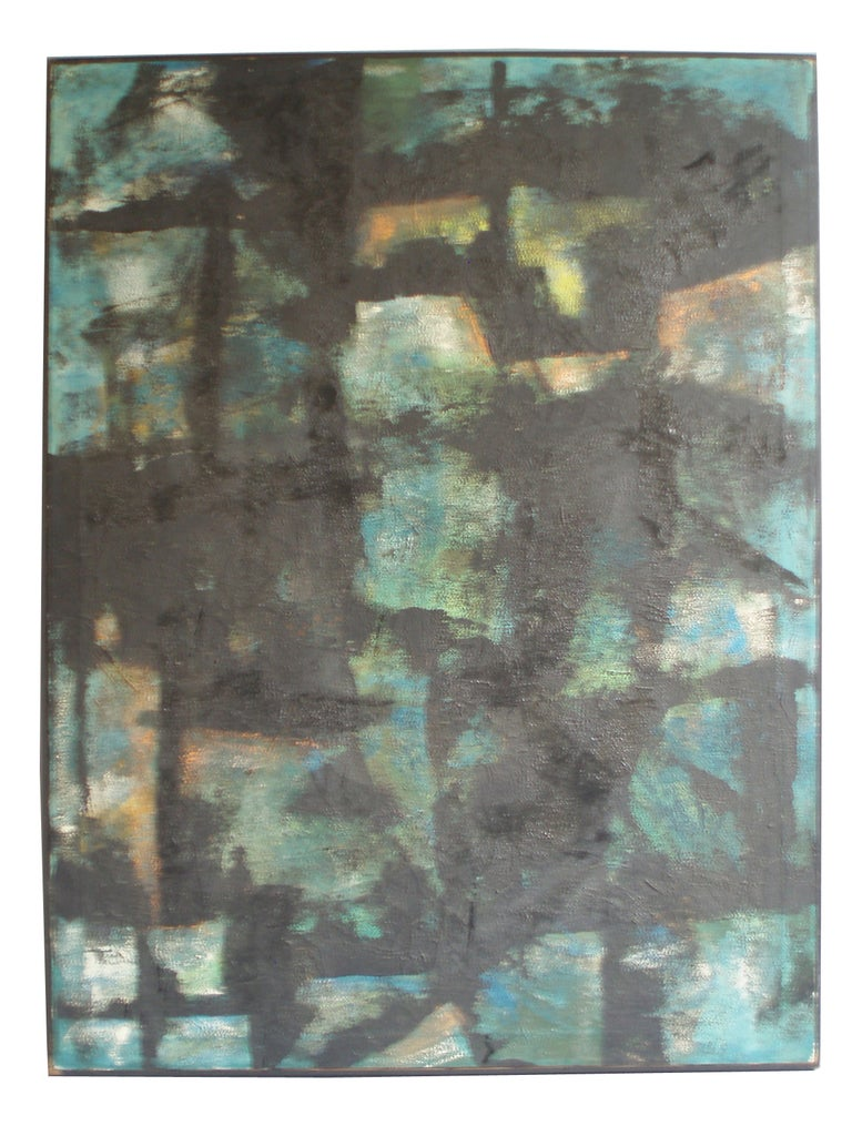 Abstract Oil Painting on Canvas by Robert Berger For Sale