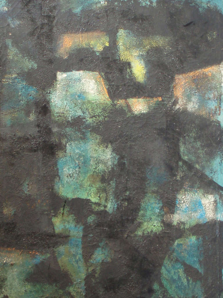 Abstract oil painting on canvas by Robert Berger.