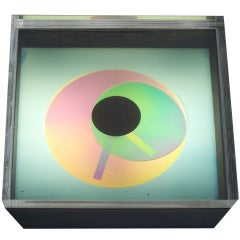 Op Pop Prisma Disc Clock by Kirsch Hamilton