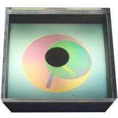 Op Pop Prisma Disc Clock by Kirsch Hamilton