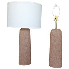 Pair of Textured Ceramic Table Lamps by Rita Sargen