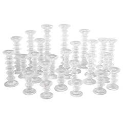 City of Glass Large 32 Piece Timo Sarpaneva Candlestick Collection