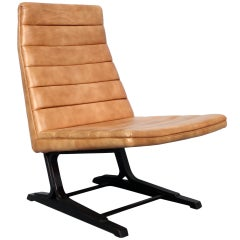 Rare Edward Wormley inspired Roger Sprunger for Dunbar armless lounge Chair
