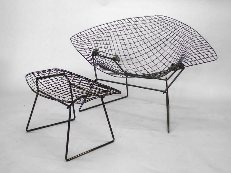 American Diamond Chair With Rocking Action By Harry Bertoia For Sale