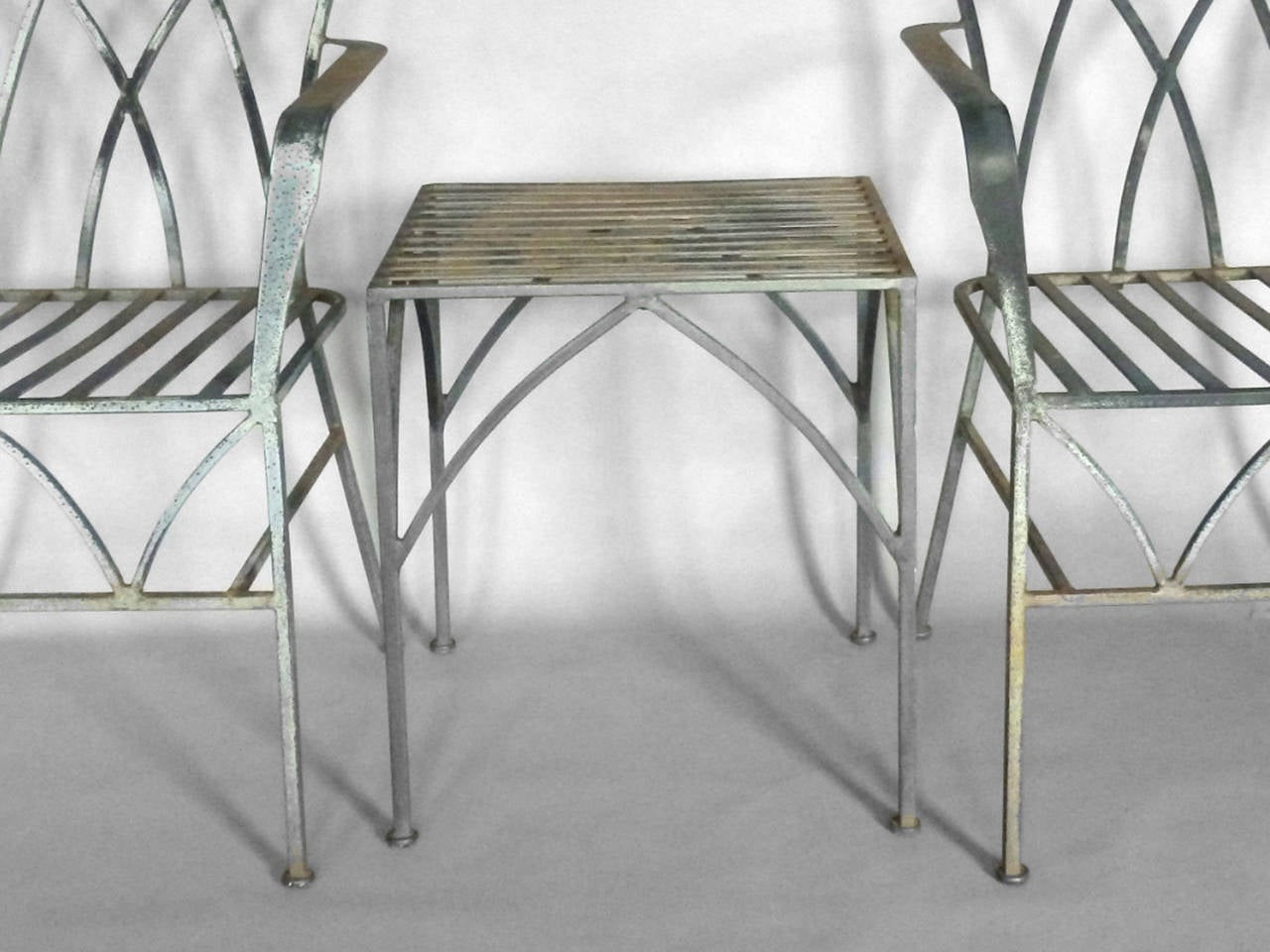 salterini wrought iron furniture. Salterini Wrought Iron Chairs With Table, Style Of Tommi Parzinger Measures: 23.25\u0026quot; Wide Furniture T