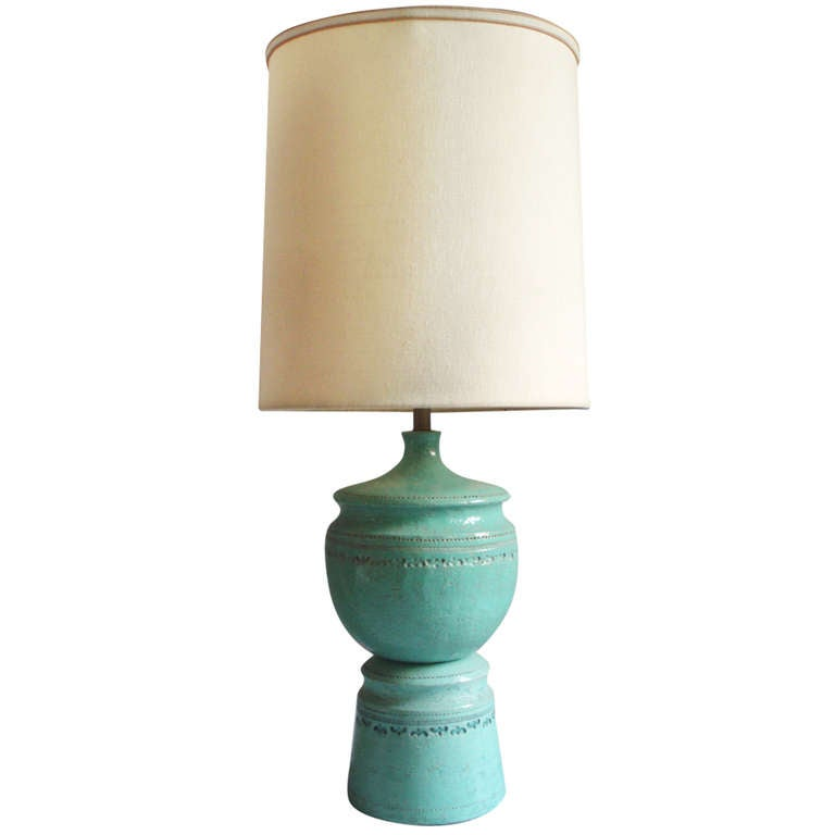 Large Stacked Pottery Table Lamp
