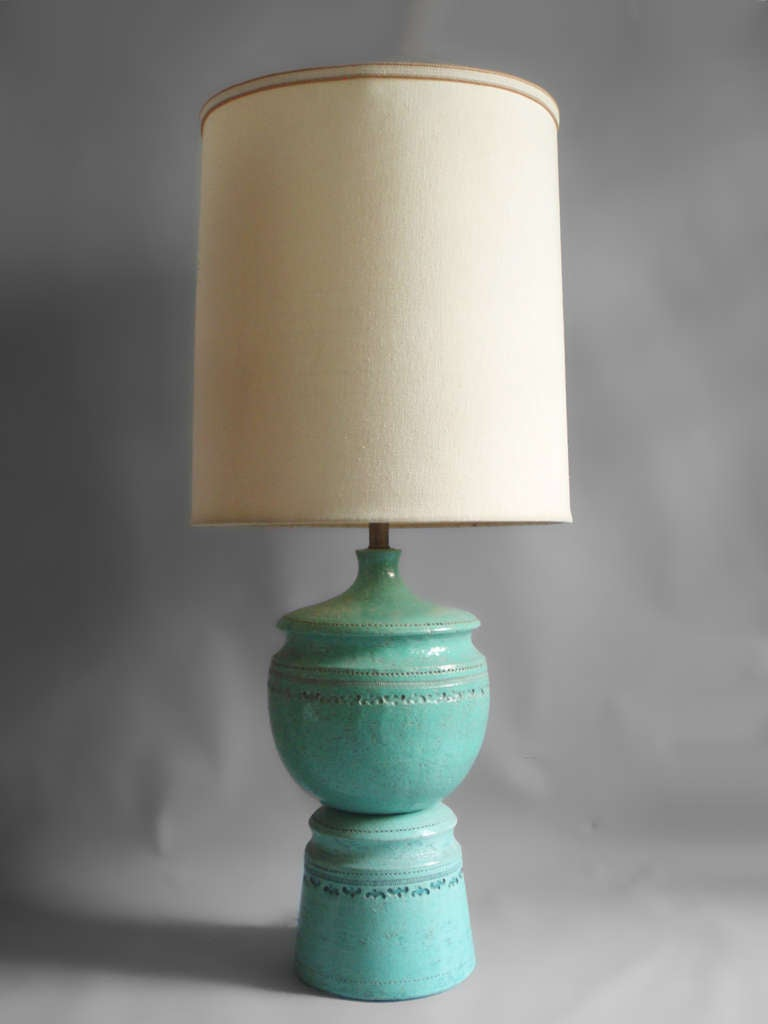 Large Stacked Pottery Table Lamp For Sale At 1stdibs