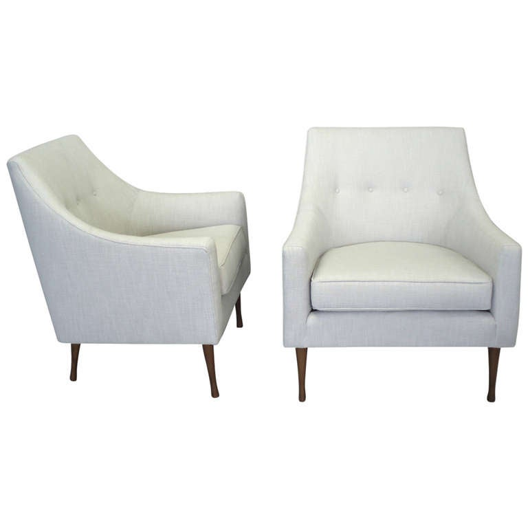 Pair of Paul McCobb Lounge Chairs at 1stdibs