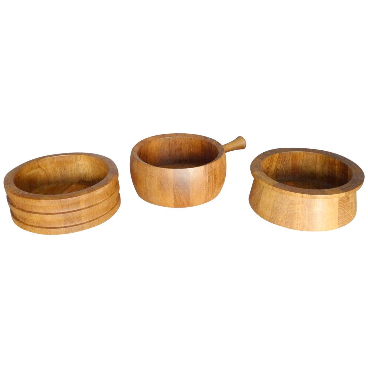 Dansk, Woodline, Nissen Danish Teak Salad Bowl collection