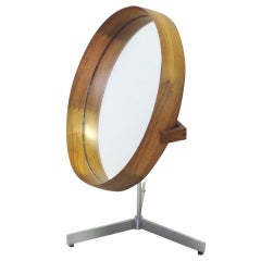 Uno and Otto Kristiansson Rosewood with Satin Chrome Base Table Top Mirror