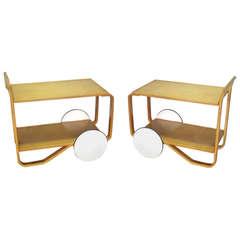 Pair of Alvar Aalto Drinks Tea Carts