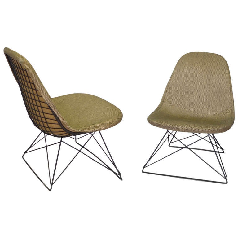 Pair of Eames Cats Cradle Lounge Chairs at 1stdibs