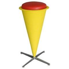 Verner Panton Op-Pop Mod Cone Bar Stool