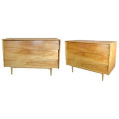 Pair of Large Early Modernist Florence Knoll Chests for Knoll