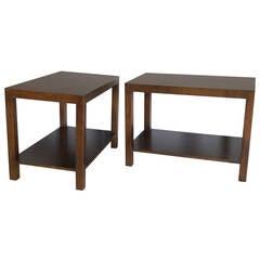 Pair of Robsjohn-Gibbings Rectilinear Side Tables
