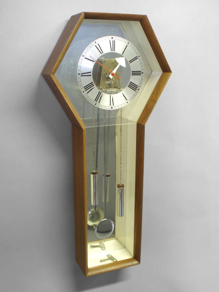 George nelson howard miller walnut case wall clock at 1stdibs for Nelson wall clock