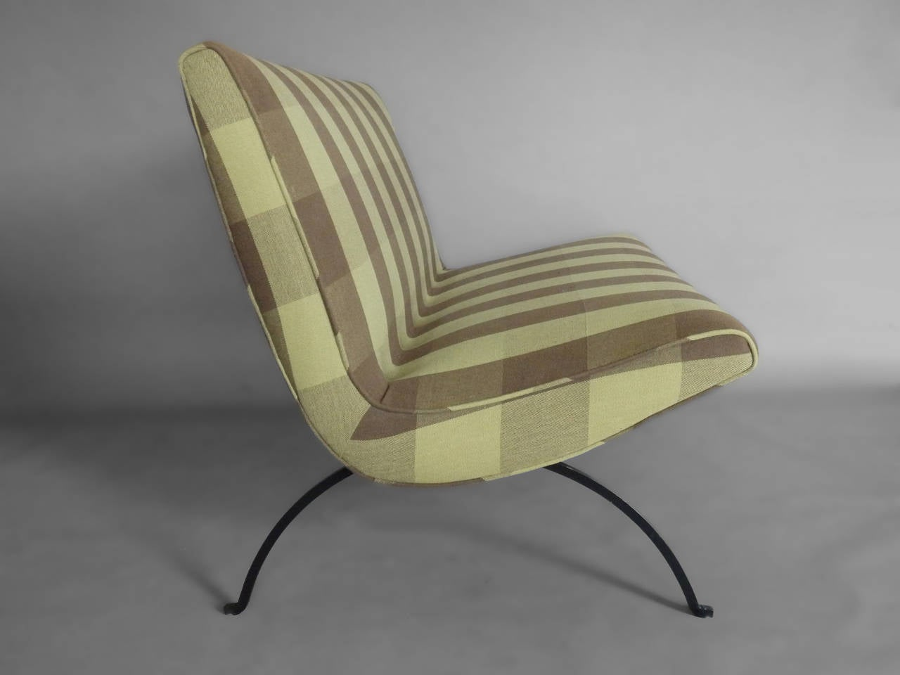 Mid-Century Modern Rare Early Production Milo Baughman Scoop Settee For Sale