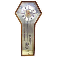 George Nelson Howard Miller Walnut Case Wall Clock