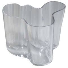 Free Form Glass Bowl by Alvar Aalto for Iitala