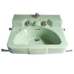 Art Moderne Porcelain Sink by Henry Dreyfuss for Crane