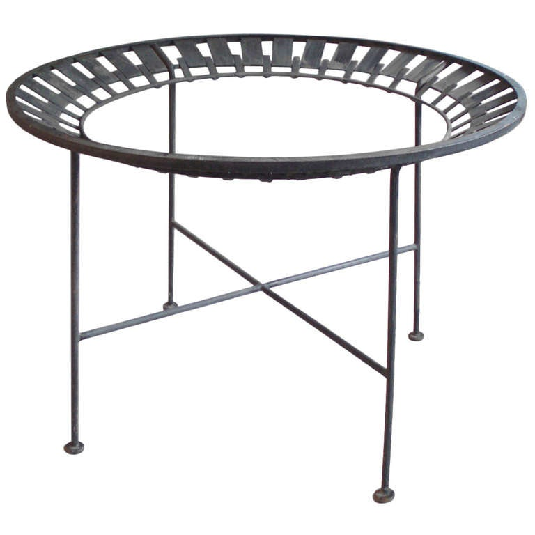 Arthur Umanoff round wrought iron dining table base