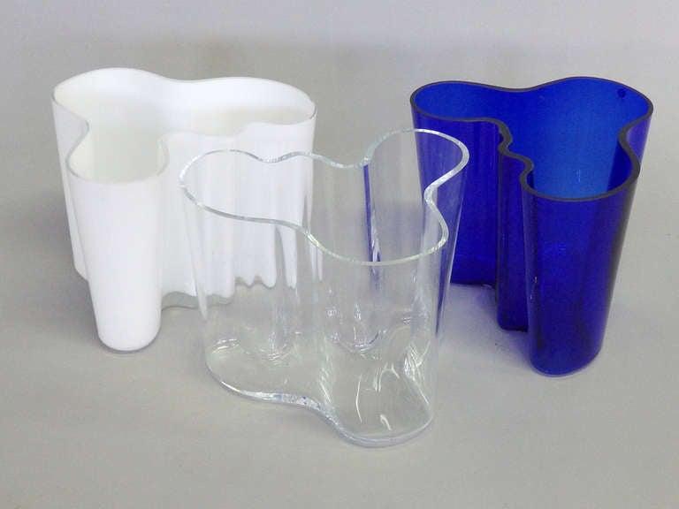 set of three alvar aalto vases for sale at 1stdibs. Black Bedroom Furniture Sets. Home Design Ideas