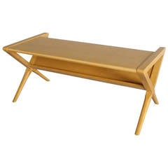 Small-Scale Magazine Stand Blonde Coffee Table