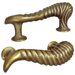Pair Brass Bronze Door Pulls